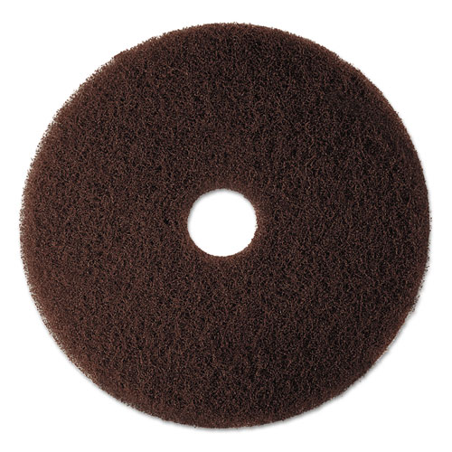 "3M™ Low-Speed High Productivity Floor Pad 7100, 20"" Diameter, Brown, 5/Carton"