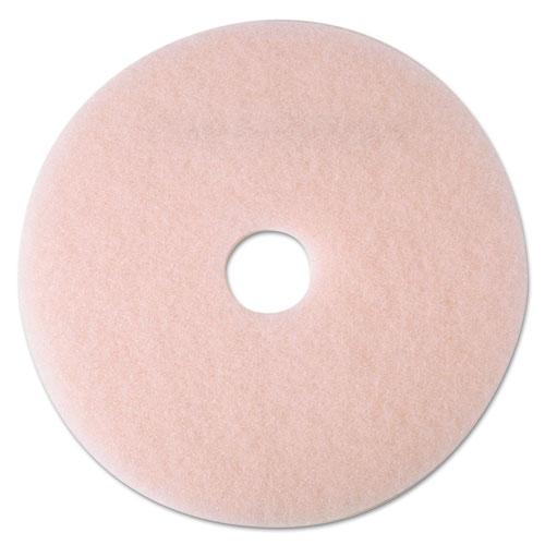 "3M™ Ultra High-Speed Eraser Floor Burnishing Pad 3600, 24"" Diameter, Pink, 5/Carton"