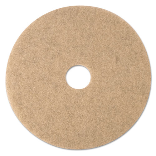 Ultra High-Speed Natural Blend Floor Burnishing Pads 3500, 17in. Dia., Tan, 5/CT 19005