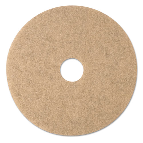 Ultra High-Speed Natural Blend Floor Burnishing Pads 3500, 19in. Dia., Tan, 5/CT 19007