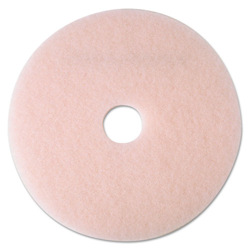 "3M™ Ultra High-Speed Eraser Floor Burnishing Pad 3600, 21"" Diameter, Pink, 5/Carton"