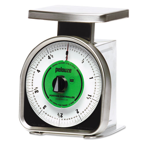 Rubbermaid® Commercial Pelouze Y-Line Mechanical Portion-Control Scale, 5lb Cap, 6 x 6 Platform