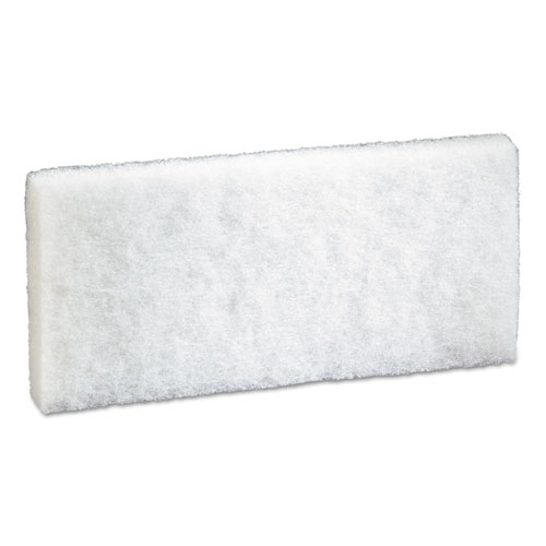 Doodlebug Scrub Pad, 4.6 x 10, White, 5/Pack, 4 Packs/Carton