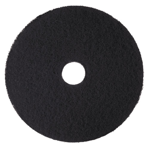 Low-Speed High Productivity Floor Pads 7300, 16 Diameter, Black, 5/Carton