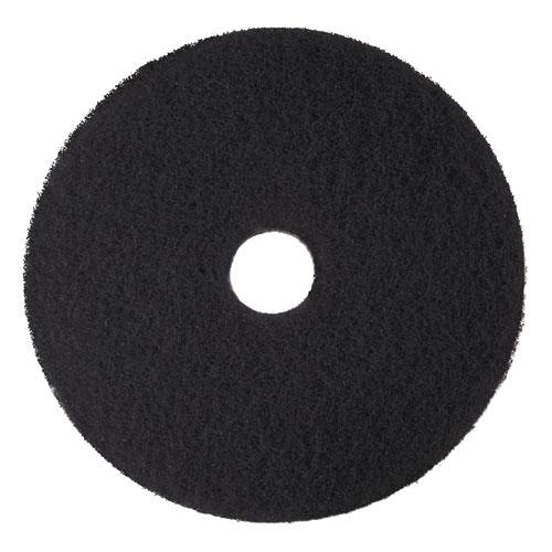 Low-Speed High Productivity Floor Pads 7300, 18 Diameter, Black, 5/Carton