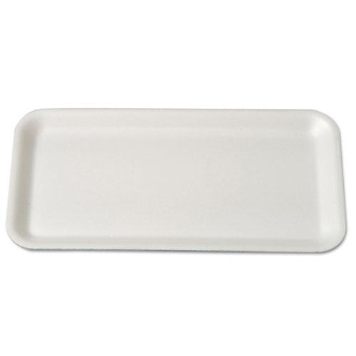Meat Trays, 10.75 x 5.75 x 0.5, White, 500/Carton