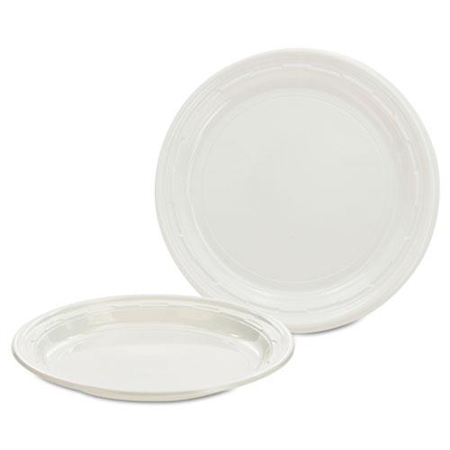 Dart® Plastic Plates, 7 Inches, White, Round, 125/Pack, 8 Packs/Carton