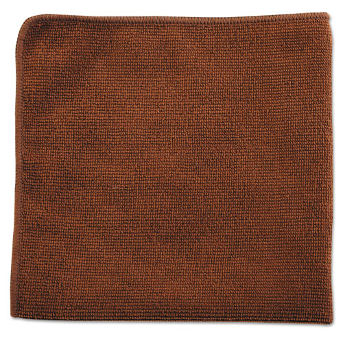 Rubbermaid® Commercial Executive Multi-Purpose Microfiber Cloths, Brown, 12 x 12, 24/Pack, 12 Packs/ RCP1863890