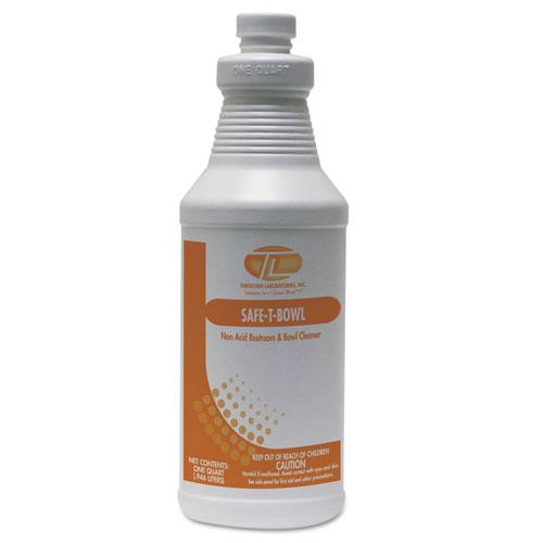 Theochem Laboratories Safe-T-Bowl Liquid Toilet Bowl Cleaner, 32 oz Bottle, 12/Carton