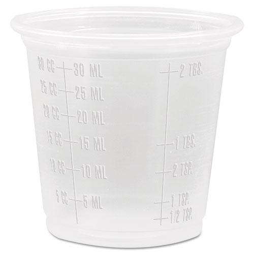 Conex Complements Polypropylene Graduated Portion/Medicine Cups, 1.25 oz, Translucent, 125/Bag, 20 Bags/Carton