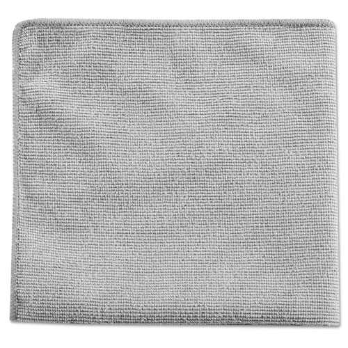 Rubbermaid® Commercial Executive Multi-Purpose Microfiber Cloths, Gray, 12 x 12, 24/Pack RCP1863888