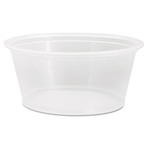 Conex Complements Polypropylene Portion/Medicine Cups, 3.25 oz, Clear, 125/Bag, 20 Bags/Carton