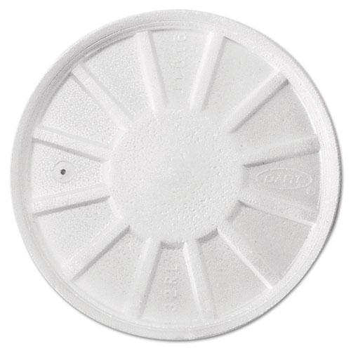 Vented Foam Lids, 8-44oz Cups, White, 50/Bag, 10 Bags/Carton
