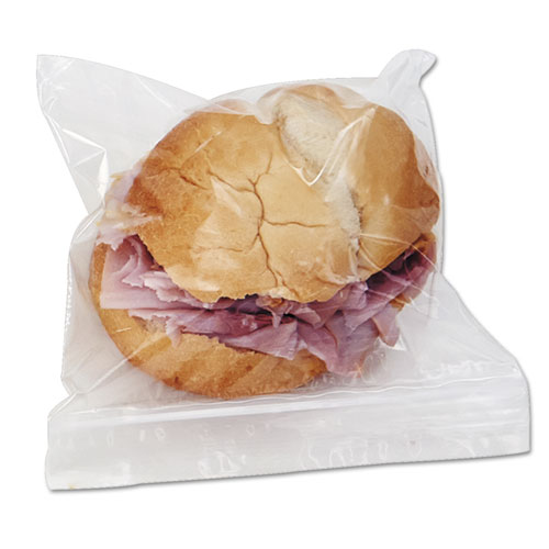 Reclosable Food Storage Bags, Sandwich, 1.15 mil, 6.5 x 5.89, Clear, 500/Box