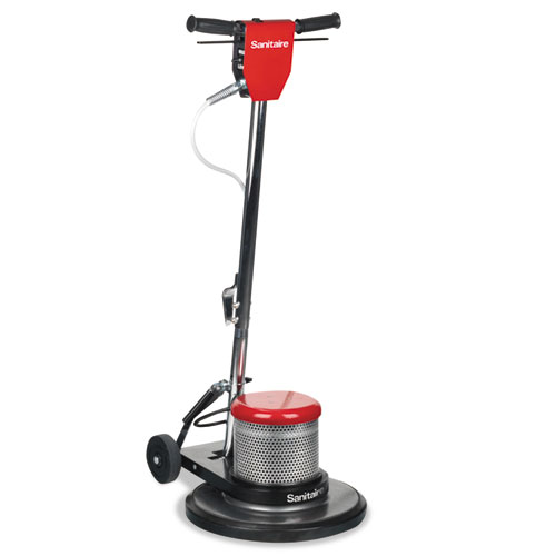 "Sanitaire® CAST Floor Machine, Dual Speed, 1 1/2 HP Motor, 175/300 RPM, 17"" Pad"