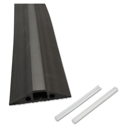 Medium-Duty Floor Cable Cover, 2.75 x 0.5 x 6 ft, Black