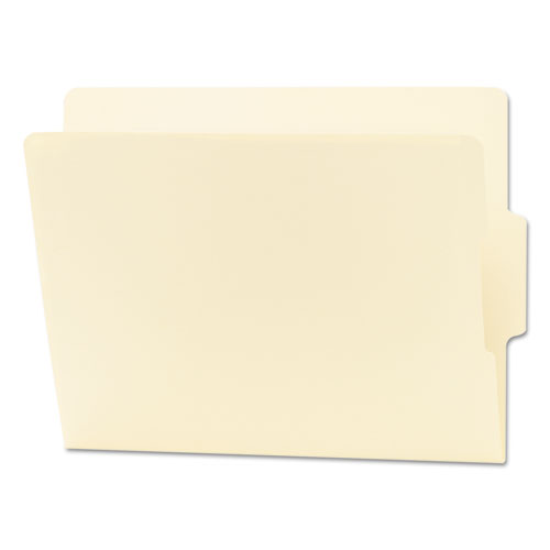 """Heavyweight Manila End Tab Folders, 9"""" Front, 1/3-Cut Tabs, Center Position, Letter Size, 100/Box 