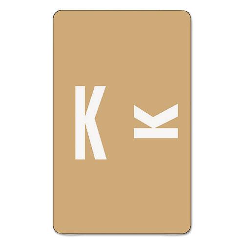 Smead® Alpha-Z Color-Coded Second Letter Labels, Letter K, Light Brown, 100/Pack