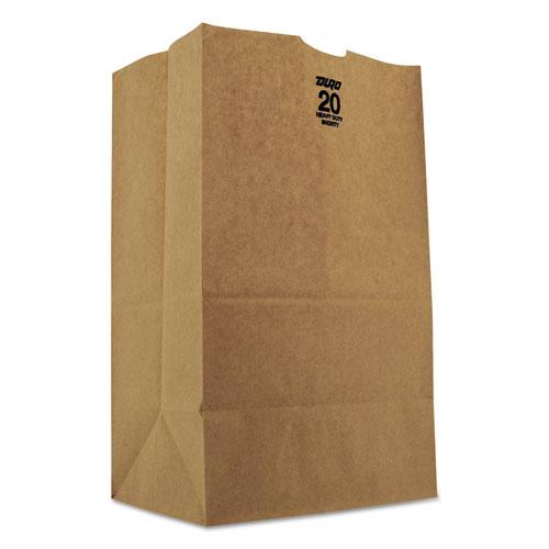 "Grocery Paper Bags, 50 lbs Capacity, #20 Squat, 8.25""w x 5.94""d x 13.38""h, Kraft, 500 Bags BAGGH20S"