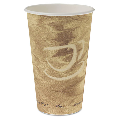 Mistique Hot Paper Cups, 16oz, Brown, 50/Sleeve, 20 Sleeves/Carton 316MS