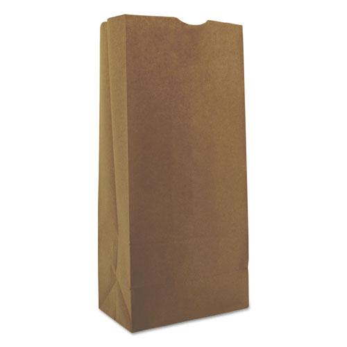 "Grocery Paper Bags, 40 lbs Capacity, #25, 8.25""w x 5.25""d x 18""h, Kraft, 500 Bags BAGGK25500"