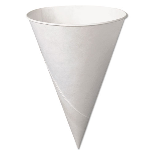 Bare Treated Paper Cone Water Cups, 6 oz., White, 200/Bag 6RU