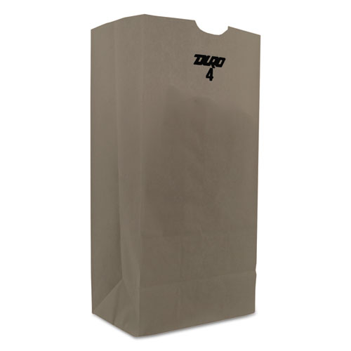 """Grocery Paper Bags, 30 lbs Capacity, #4, 5""""w x 3.13""""d x 9.75""""h, White, 4,000 Bags BAGGW4"""