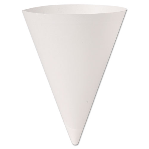 Bare Treated Paper Cone Water Cups, 7 oz., White, 250/Bag, 20 Bags/Carton 156BB