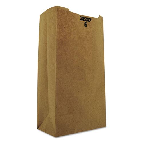 "Grocery Paper Bags, 35 lbs Capacity, #6, 6""w x 3.63""d x 11.06""h, Kraft, 2,000 Bags BAGGK6"
