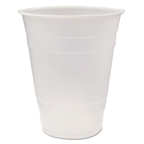 Translucent Plastic Cups, 16 oz, Clear, 80/Pack, 12 Pack/Carton YE160