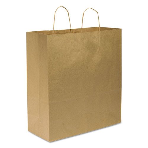 Shopping Bags, 18 x 18.75, Kraft, 200/Carton