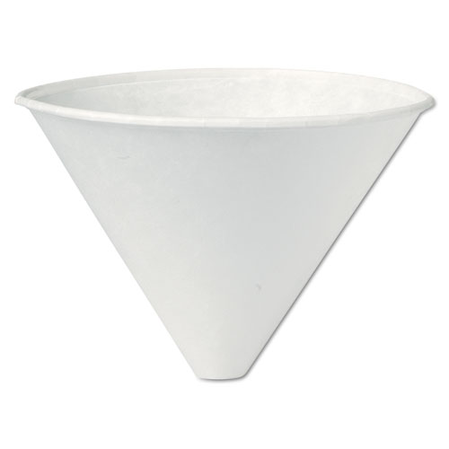 Funnel-Shaped Medical  Dental Cups, Treated Paper, 6oz., 250/Bag, 10/CT