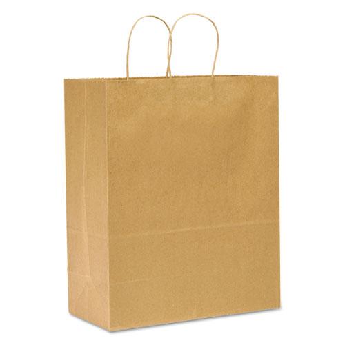 """Shopping Bags, 13"""" x 17"""", Kraft, 250/Carton DRO87128"""