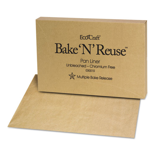 EcoCraft Bake N Reuse Pan Liner, 16 3/8 x 24 3/8, 1000/Box