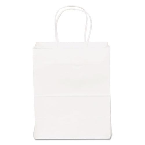 Shopping Bags, 8 x 10.25, White, 250/Carton