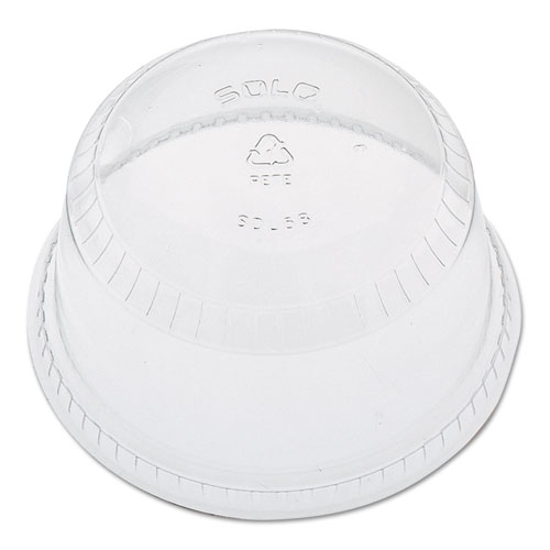 Flat-Top Dome Cup Lids, Plastic, Fits 12-14, 20oz Cups, 50/Pack 20 Packs/Carton