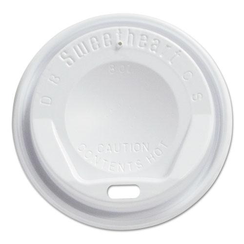 Gourmet Dome Sip-Through Lids, 8oz Cups, White, 100/Sleeve, 10 Sleeves/Carton LGX8R1