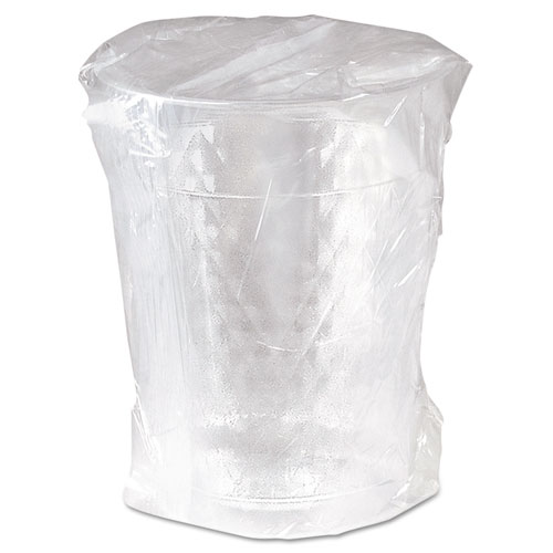 Diamond Tumbler Plastic Cups, 10oz., Clear, Individually Wrapped, 25/Bag, 20/CT WTC10X