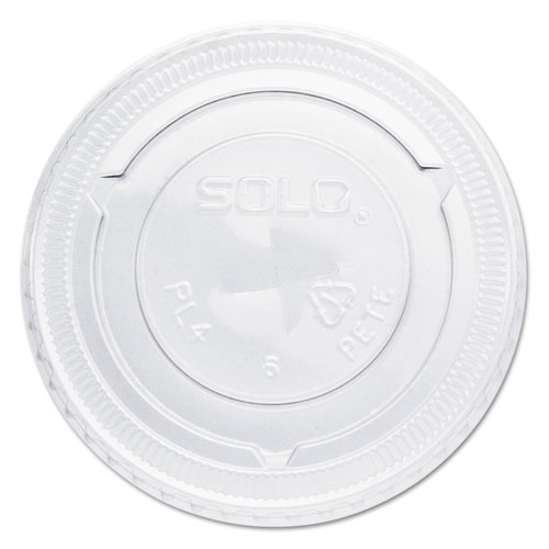 Straw-Slot Cold Cup Lids, For 7oz Plastic Cups, Clear, Plastic, 125/Bag, 20/CT PL4TSN