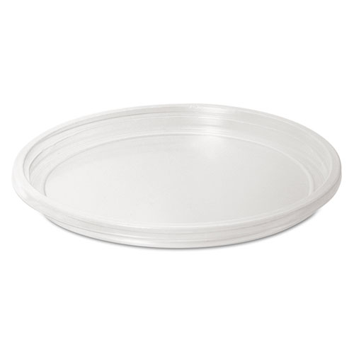Recessed Plastic Cup Lids, 8-16oz Cups, Clear, 100/Sleeve, 20 Sleeves/Carton LMC88A
