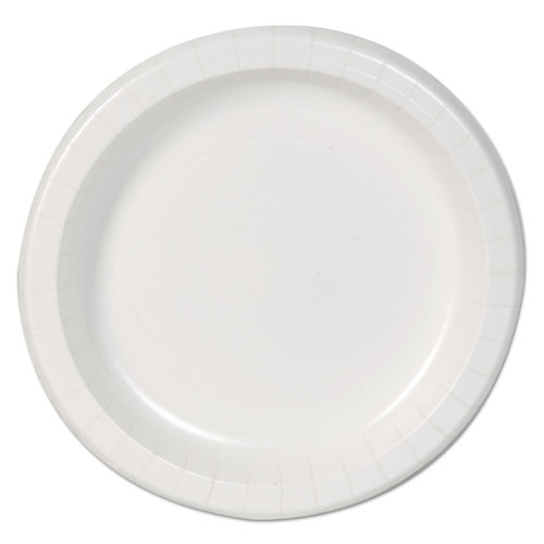 "Basic Paper Dinnerware, Plates, White, 8.5"" Diameter, 125/Pack, 4/Carton 