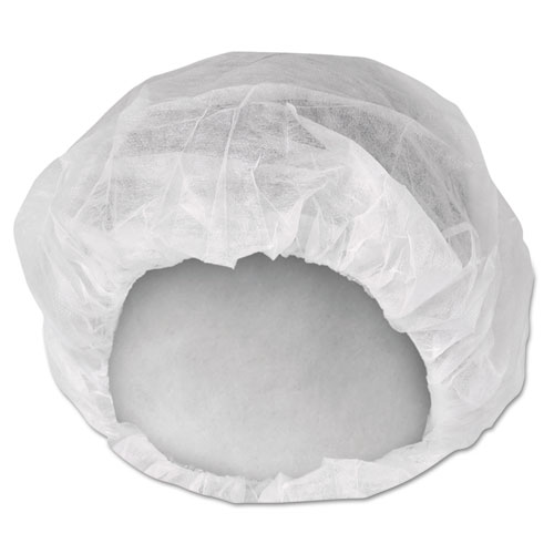 A10 Bouffant Caps, White, Large, 150 Pack, 3 Packs/Carton