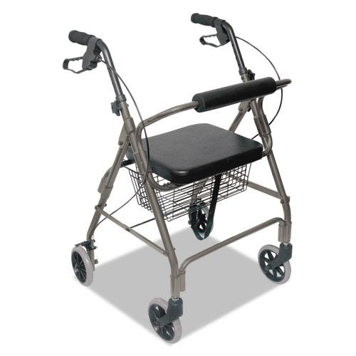Ultra Lightweight Rollator, Titanium, Aluminum, Adjustable