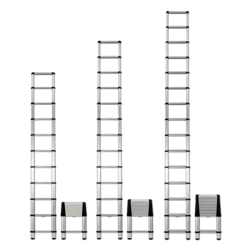 Telesteps® Telescopic Extension Ladder, 14 ft, 250lb, 10-Step, Aluminum