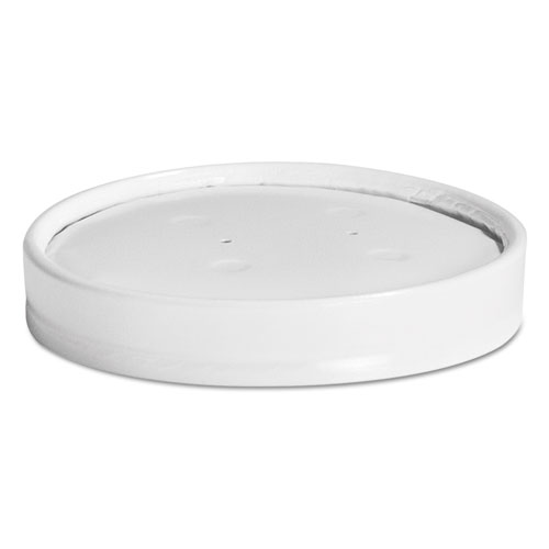 Vented Paper Lids, 8-16oz Cups, White, 25/Sleeve, 40 Sleeves/Carton 71870