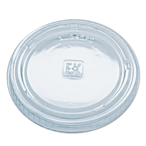 Portion Cup Lids, Fits Portion Cups and Containers, Clear, 125/PK, 16 PK/CT GXL345PC