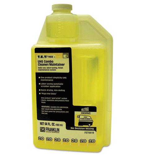 T.E.T. 20 UHS Combo Floor Cleaner/Maintainer, Citrus Scent, 2qt. Bottle, 2/CT