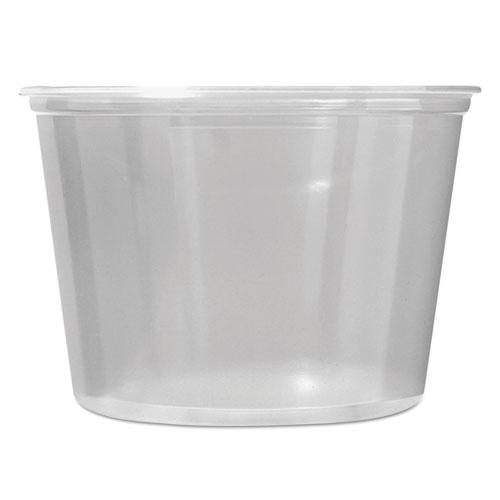 Fabri-Kal® Microwavable Deli Containers, 16 oz, Clear, 500/Carton FABPK16SC