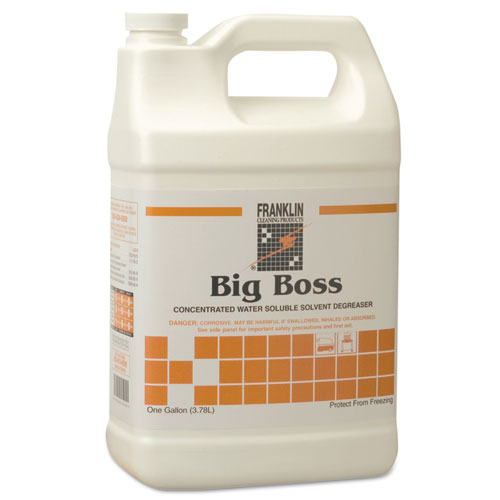Big Boss Concentrated Degreaser, Sassafras Scent, 1gal Bottle, 4/Carton