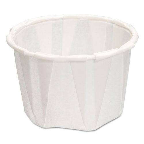 Paper Portion Cups, 1.25 oz., White, 250/Bag, 20 Bags/Carton F125